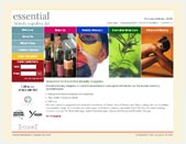 Screenshot of the Web-Design UK web site Essential Beauty Supplies